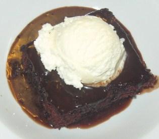 Wacky Chocolate Cake with Hot Chocolate Sauce