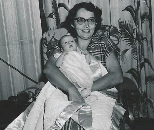 Betty and baby Cathy 1953