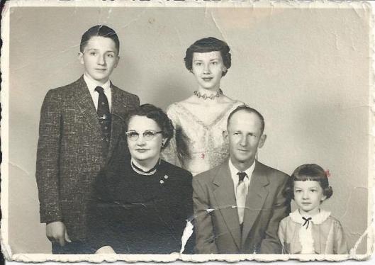 Smaha Family Portrait around 1956 to 1957