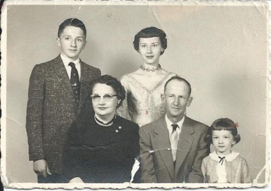 Smaha Family Portrait around 1956 to 1957