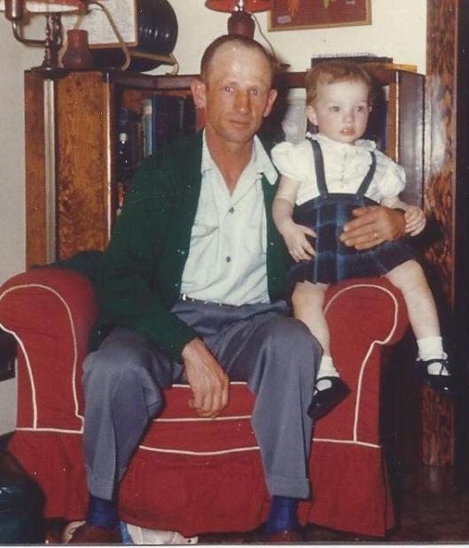 Cathy & her Dad about 1954