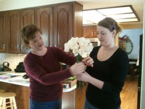 megan and cathy do flowers