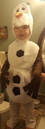 Evan as Olaf